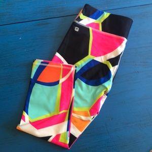 Fabletics Capri leggings popsicle print